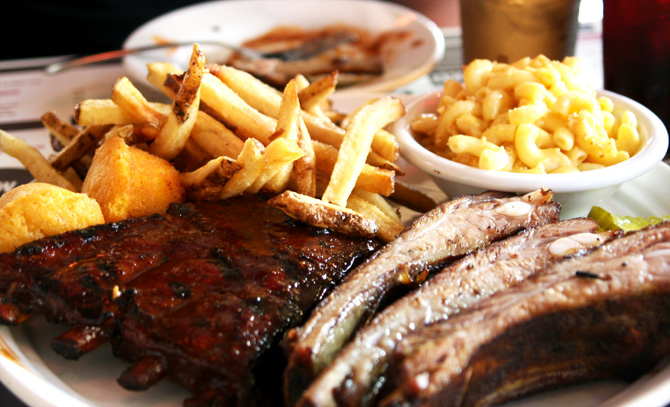 Brother Jimmy's BBQ ribs