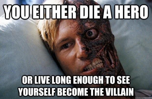 Two Face Villain Meme