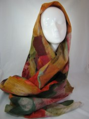 CKrueger collage felted scarf