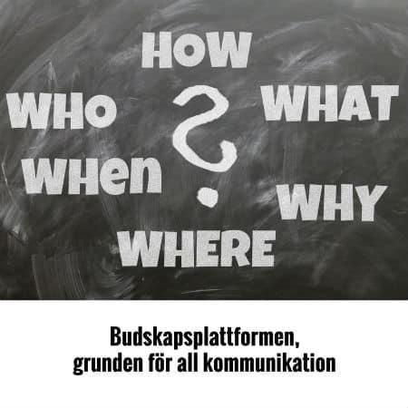 Budskapsplattformen, grunden för all kommunikation