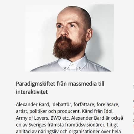 En timme med Alexander Bard (@Bardissimo)
