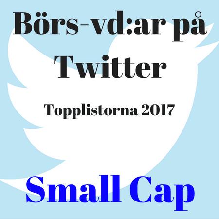 Börs-vd:ar på Twitter, topplistorna 2017: Small Cap