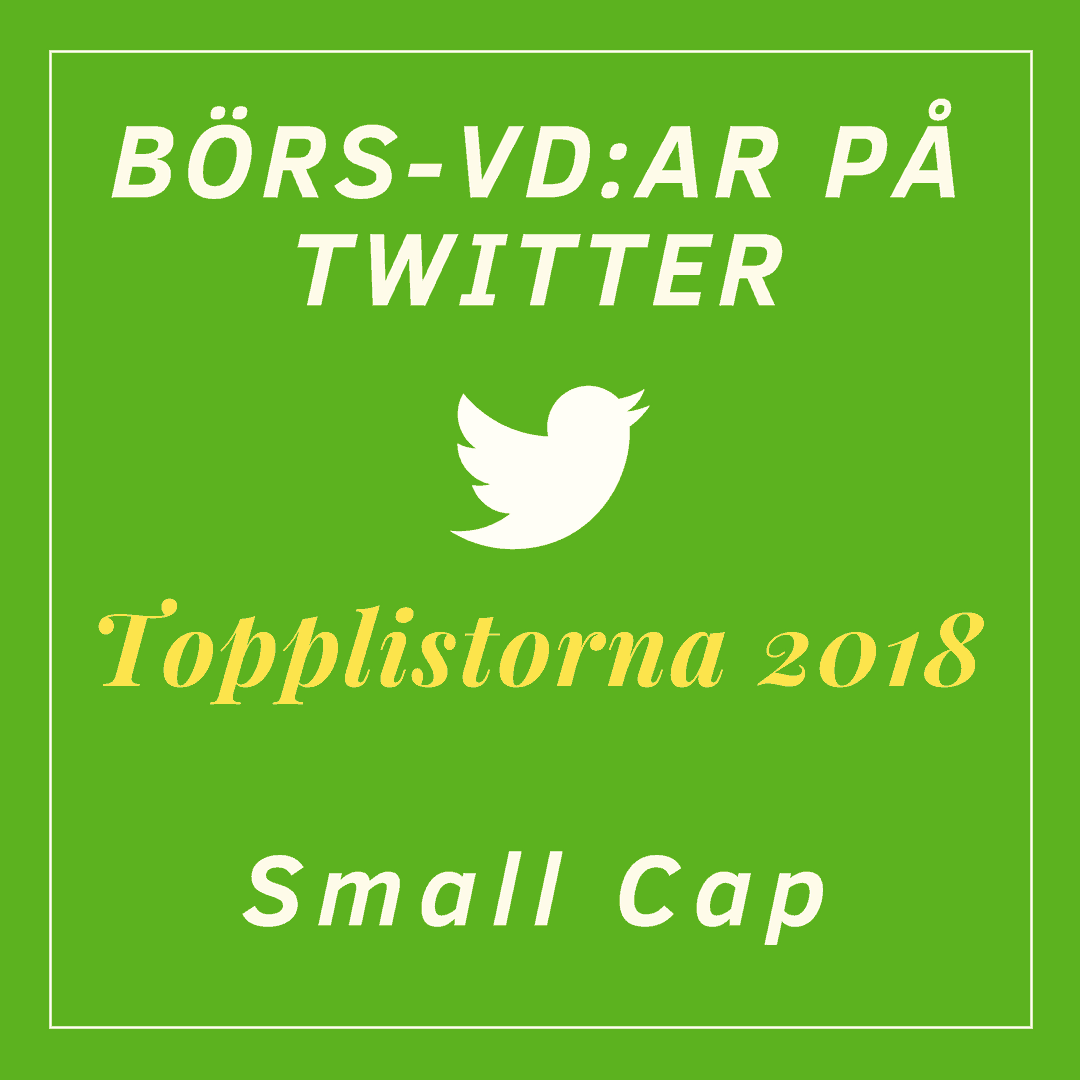Börs-vd, twitter, topplista, Box Communications, Small Cap, Topplistan 2018