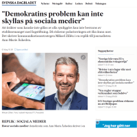 Sociala medier, demokrati, kommunikation
