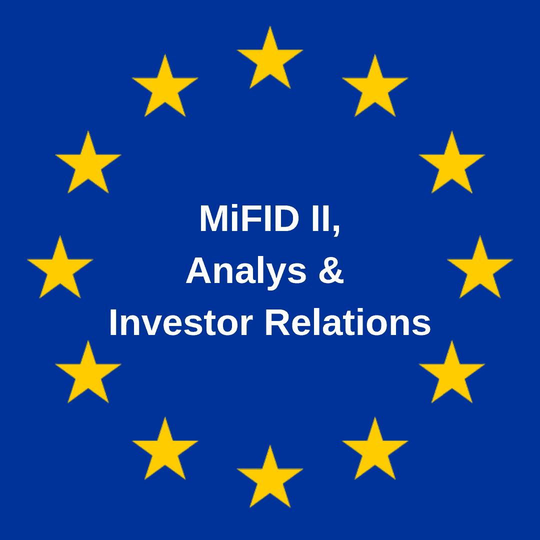 Åkte analysen verkligen ut med badvattnet? – om MiFID II, analyser och Investor Relations