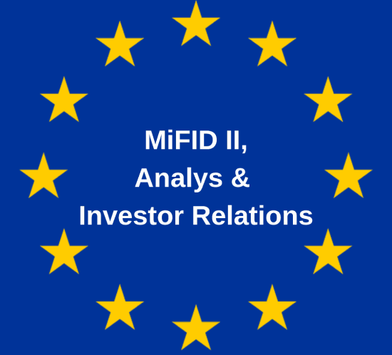 Mifid, Analys, IR, Investor relations