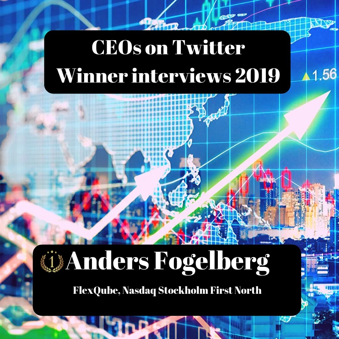 CEOs on Twitter, FlexQube, Anders Fogelberg