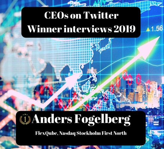 CEOs on Twitter, FlexQube, Anders Fogelberg