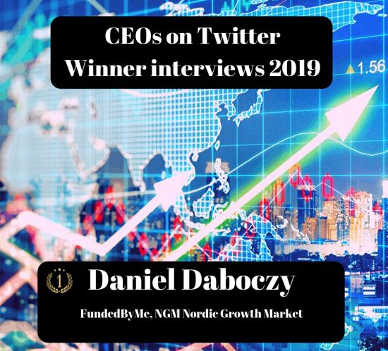 CEOs on Twitter, Daniel Daboczy, FundedByMe