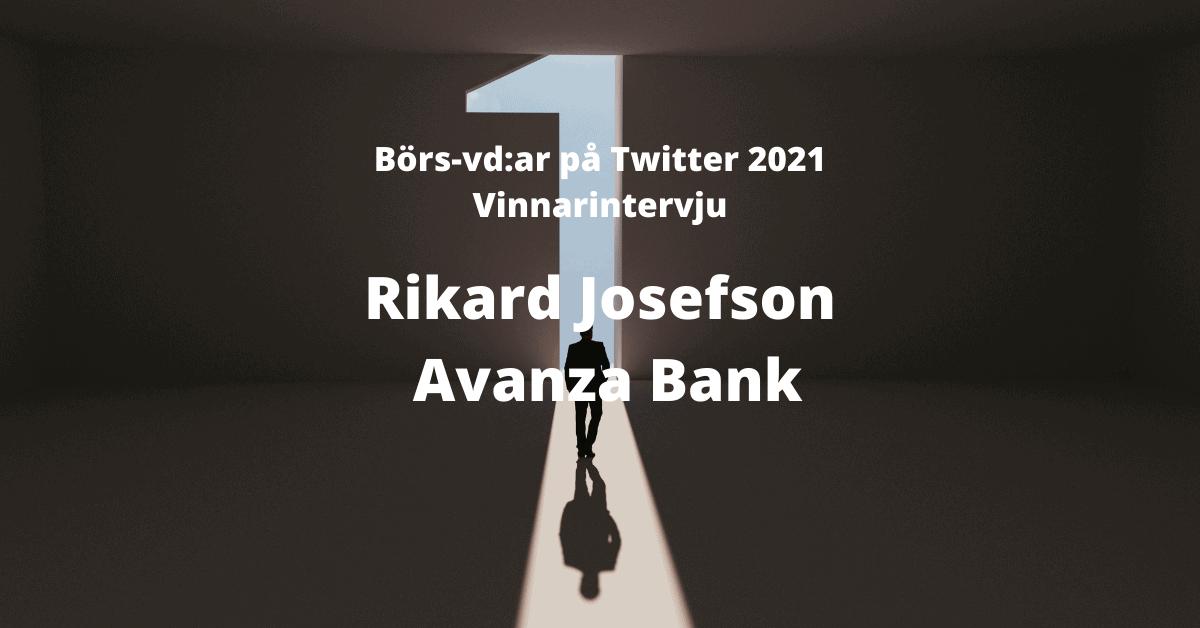 Börs-vd:ar Twitter, Rikard Josefson, Avanza, IR, Investor Relations
