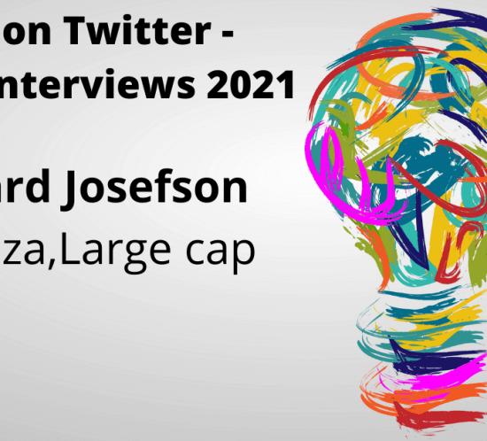 Ceo's on Twitter, Rikard Josefson, Avanza