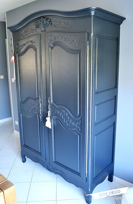 peindre une armoire normande en gris