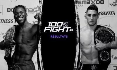 100% FIGHT 40 - DAWA et ALJAROUJ Champions ! Résultats
