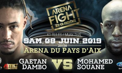 ARENA FIGHT - Le rendez-vous est fixé pour Gaétan DAMBO et Mohamed SOUANE