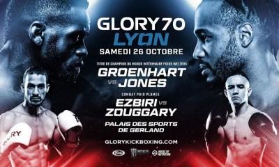Le GLORY Kickboxing revient à Lyon le 26 octobre avec JONES et EZBIRI en tête d'affiche !