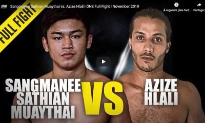 Azize HLALI vs SANGMANEE Sathian Muay Thai - Full Fight Video - ONE