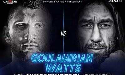Arsen GOULAMIRIAN remet son titre mondial WBA en jeu face à l'Australien Kane WATTS