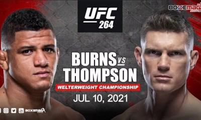 Gilbert Burns affrontera Stephen Thompson à l'UFC 264