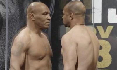 Mike Tyson vs Roy Jones Jr. Vidéo de la pesée