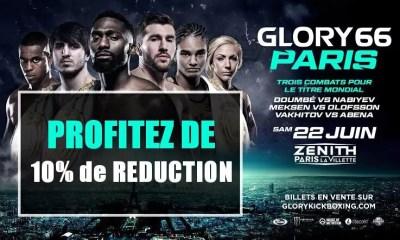 GLORY 66 PARIS - Profitez de 10% de Réduction sur vos places - BILLETTERIE