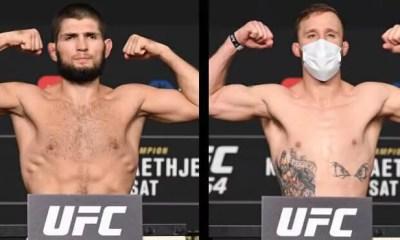 UFC 254 - Résultats de la pesée