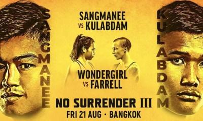 ONE No Surrender III - Direct Live, Vidéo et Résultats des combats