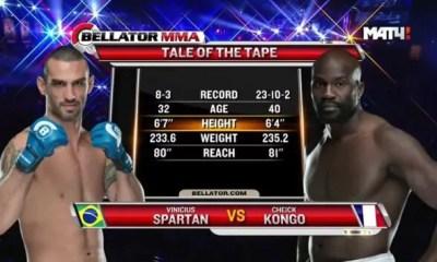 Cheick Kongo vs Vinicius Spartan - Full Fight Video - Bellator 150