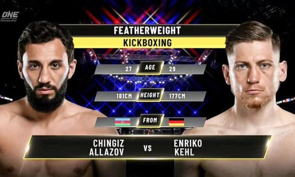 Chingiz Allazov vs Enriko Kehl 2 - Replay Vidéo du combat - ONE Championship