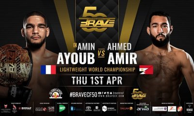 Amin Ayoub défendra sa ceinture du BRAVE CF face à Ahmed Amir