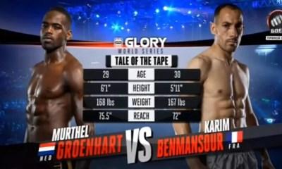Karim BENMANSOUR vs Murthel GROENHART - Full Fight Video - GLORY 31