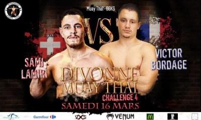 Divonne Muay Thai 4 - BORDAGE l'Endurance vs LAMIRI la Puissance !