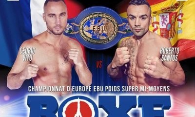 Cedric Vitu vs Roberto Santos - Full Fight Video - EBU Title