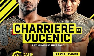 Morgan Charriere défendra sa ceinture du Cage Warriors face à Jordan Vucenic