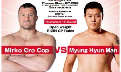 Mirko CRO-COP vs Hyun MAN MYUNG - Full Fight Vidéo - RIZIN 2