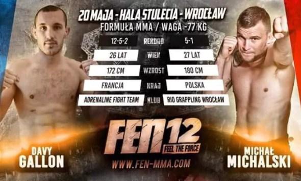 Davy GALLON vs Michał MICHALSKI - Full Fight Video - FEN 12