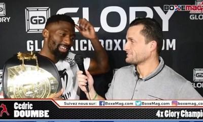 Cedric DOUMBE - ITW Video sur sa victoire au GLORY face à Harut GRIGORIAN et sur Alim NABIEV