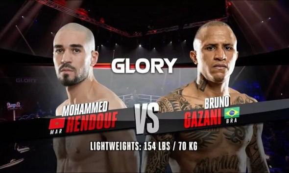 Mohammed Hendouf vs Bruno Gazani - Vidéo du Combat - Glory Kickboxing