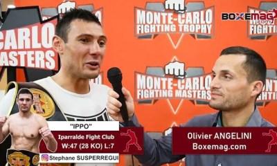 Stephane SUSPERREGUI - ITW Video sur sa victoire à Monaco, le GLORY et la Fight Night St Tropez 6 !