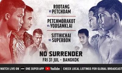 ONE - No Surrender - La Carte des combats complète avec Sitthichai et Yodsanklai