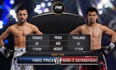 ONE - Fabio PINCA s'incline face à NONG-O mais la bataille était belle ! VIDEO