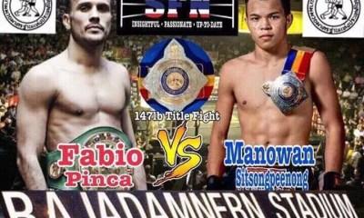 Fabio PINCA vs MANAOWAN - Muay Thai Fight Video - Rajadamnern Title