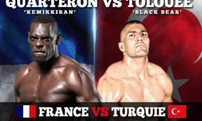 QUARTERON vs TOLOUEE le 14 décembre à l'Accorhotels Arena - Paris Fight