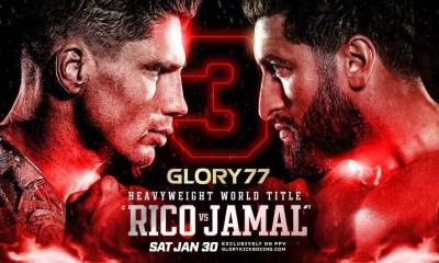 La trilogie Rico Verhoeven vs Jamal Ben Saddik se tiendra au GLORY 77