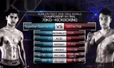 SITTICHAI vs SUPERBON 2 - Full Fight Video - Kunlun Fight 53