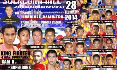 Superbank vs Sangmanee - Fight Video Lumpini 2014