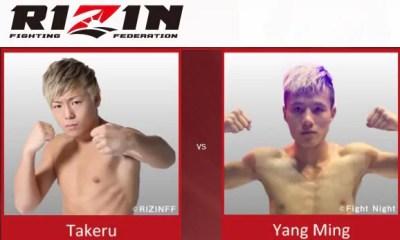TAKERU vs Yang Ming - Full Fight Video - Rizin FF