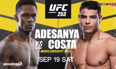 UFC 253 - Adesanya vs Costa - Carte des combats, résultats, infos direct live et vidéos