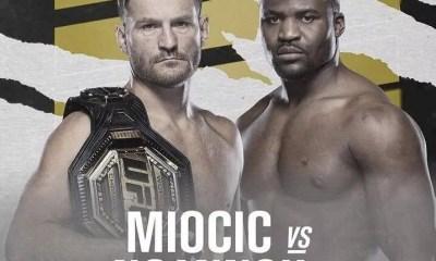 Ngannou vs Miocic 2 confirmé pour le 27 mars à l'UFC 260