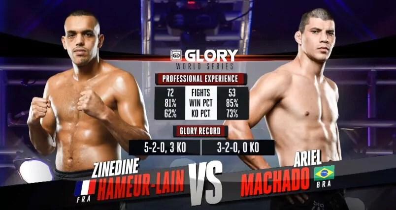 Zinedine HAMEUR LAIN vs Ariel MACHADO 2 - K-1 FIGHT VIDEO - GLORY 38