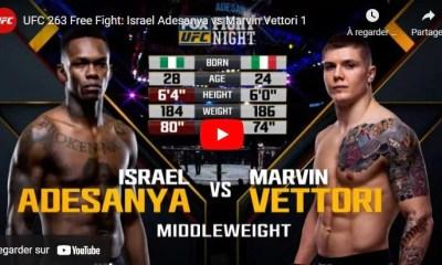 Israel Adesanya vs Marvin Vettori - Replay du combat - Vidéo UFC